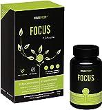 BRAINEFFECT FOCUS + Coach - Konzentrations Tabletten in Kapselform als Brain Booster, Gehirn Tabletten ohne Koffein für mehr Focus mit Ginkgo und Vitamin B5/B12, 60 Ginko Gedächtnis Kapseln