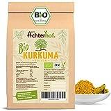 Bio Kurkuma Pulver 500g Kurkumawurzel gemahlen als Gewürz für Paste oder Curcuma Latte natürlich vom-Achterhof